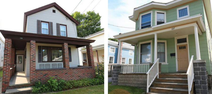 Photo of SUNY Oswego - Off Campus College Housing for 154 W Seneca St. Oswego, NY and 127 W 8th Street Oswego, NY.